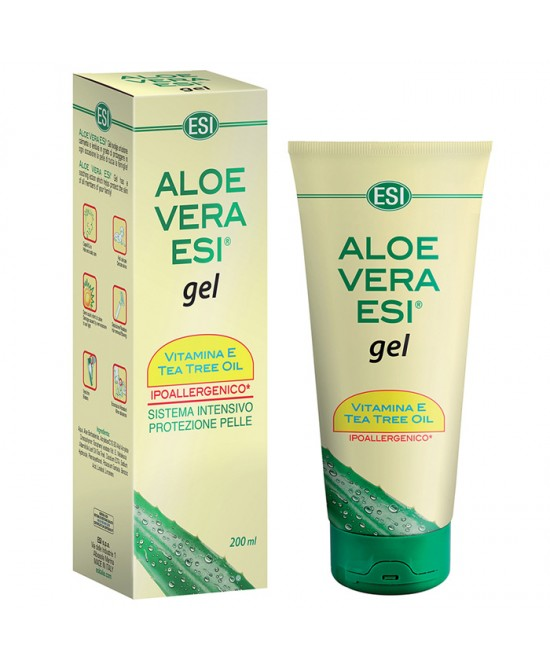 Esi Aloe Vera Gel Vitamina E + Tea Tree 200ml - Iltuobenessereonline.it
