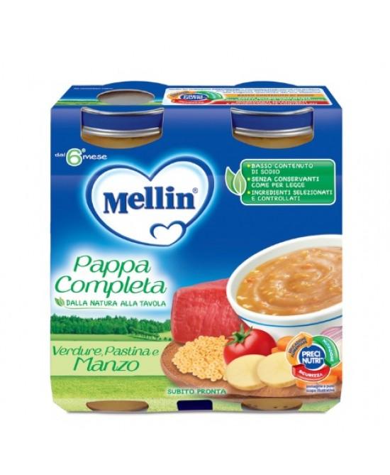 Mellin Pappa Completa Verdura Pastina Manzo 2x250g - Farmajoy
