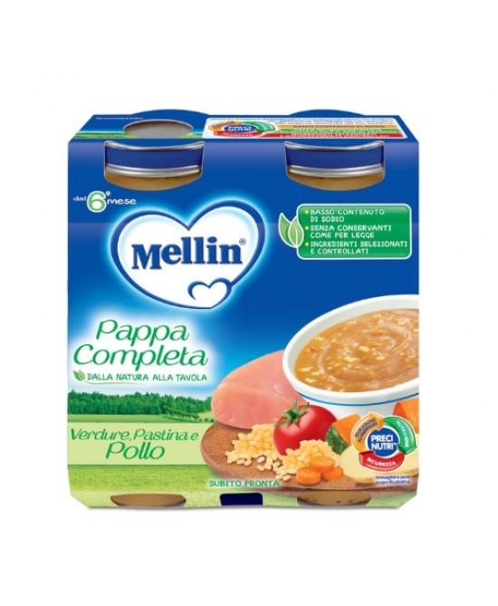 Mellin Pappa Completa Verdure Pastina Pollo 2x250g - Farmajoy