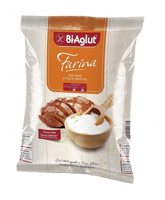 Bi-Aglut Farina Per Pane E Paste Lievitate Senza Glutine 1kg - Farmajoy