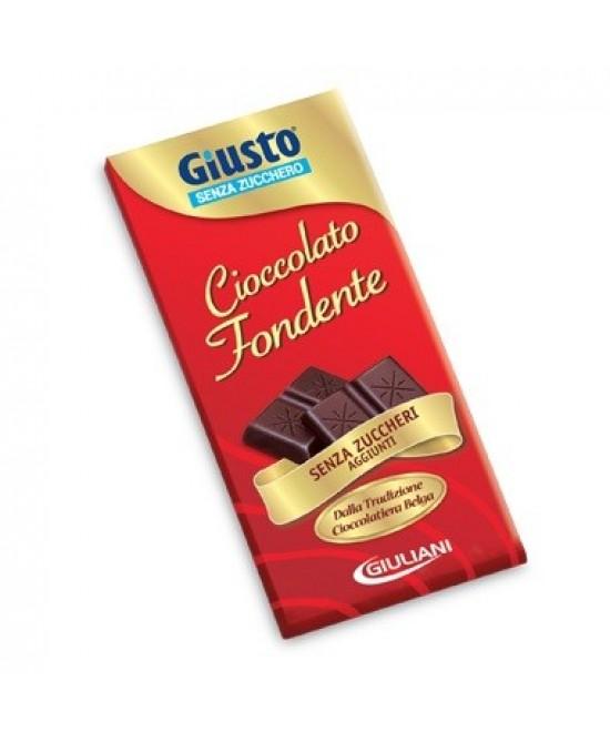 Giusto Cioccolato Fondente Senza Zucchero 85g - Farmafamily.it