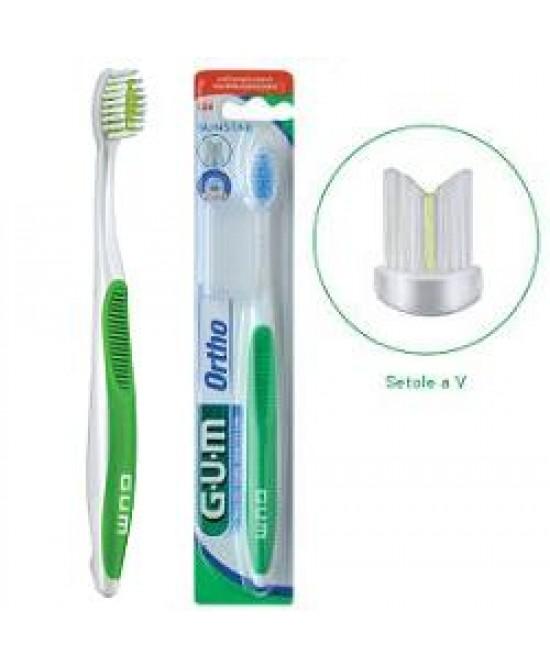 Gum Ortho Spazzolino 124 Ortodontico Morbido - Iltuobenessereonline.it