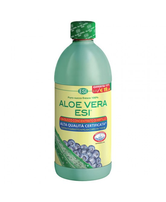 ESI Aloe Vera Succo Con Mirtillo Integratore Alimentare 1000ml - Farmabellezza.it