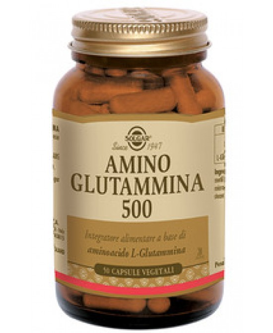 Solgar Amino Glutammina 500 50 Capsule Vegetali - Farmabravo.it