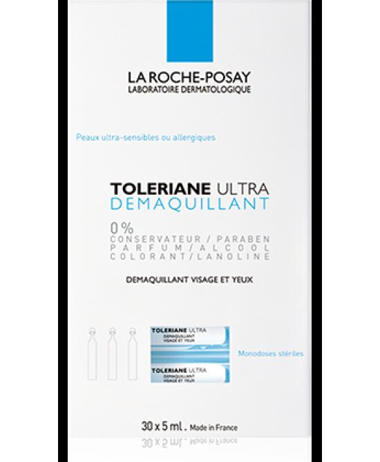 LA ROCHE POSAY TOLERIANE ULTRA DEMAQUILLANT STRUCCANTE VISO-OCCHI 30 MONODOSI DA 5 ML - Farmastar.it
