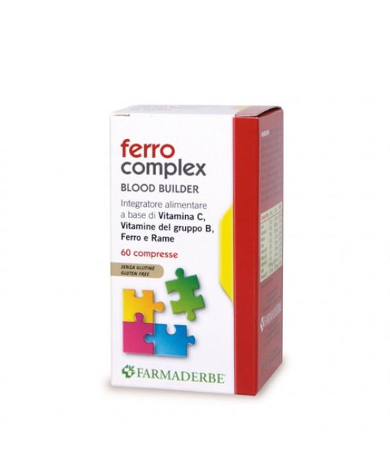 Farmaderbe Ferro Complex Integratore Alimentare 60 Compresse - Parafarmacia la Fattoria della Salute S.n.c. di Delfini Dott.ssa Giulia e Marra Dott.ssa Michela
