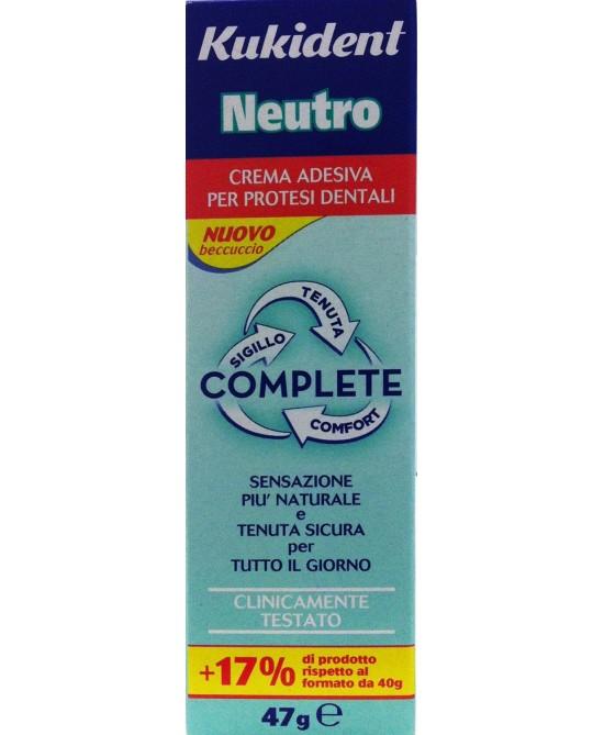 Kukident Neutro Complete Crema Adesiva Protesi Dentali 40ml - Spacefarma.it