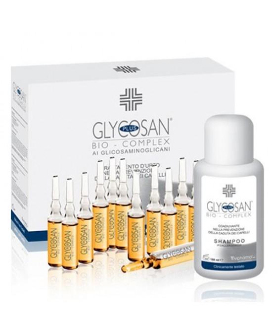 Glycosan Plus Bio Complex Shampoo Rinforzante 150 ml + 12 Fiale Anticaduta