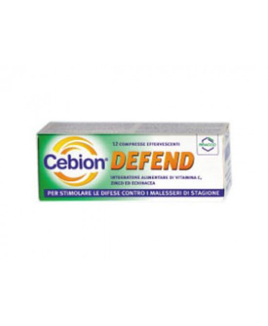 Cebion Defend Integratore Alimentare 12 Compresse Effervescenti - Farmafamily.it