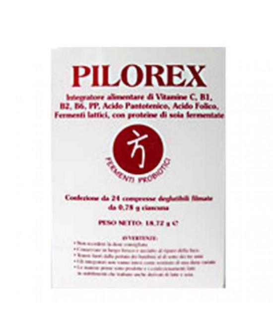 Bromatech Pilorex Integratore Alimentare Fermenti Lattici 24 Compresse - Farmastar.it