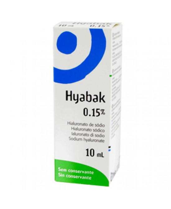 HYABAK SOLUZIONE OFTALMICA 10M