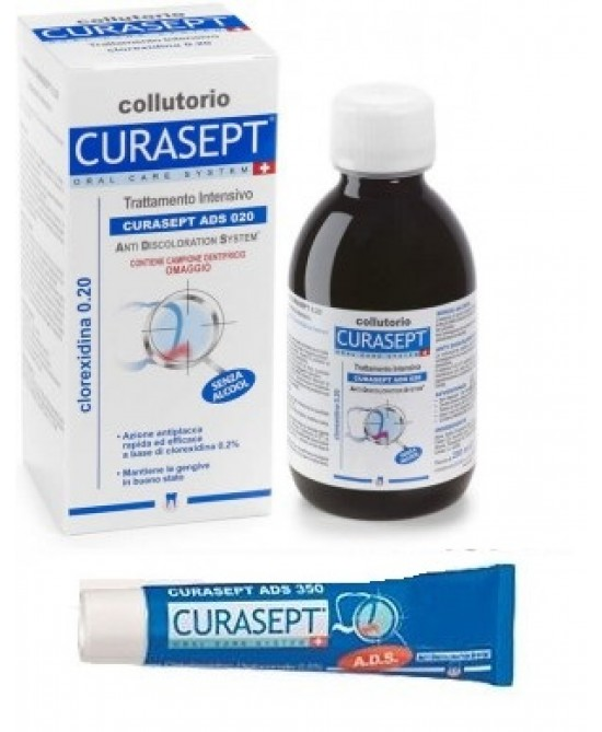 Curasept ADS 0.20 Collutorio Trattamento Intensivo 200ml + Campione Gel Parodontale Omaggio - Farmastar.it