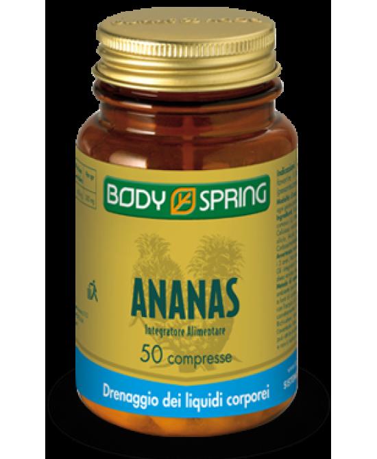 Body Spring Ananas 50 Compresse - Parafarmacia la Fattoria della Salute S.n.c. di Delfini Dott.ssa Giulia e Marra Dott.ssa Michela