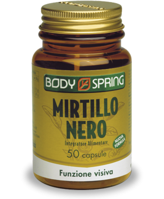 Body Spring Mirtillo Nero Integratore Alimentare 50 Capsule - Iltuobenessereonline.it
