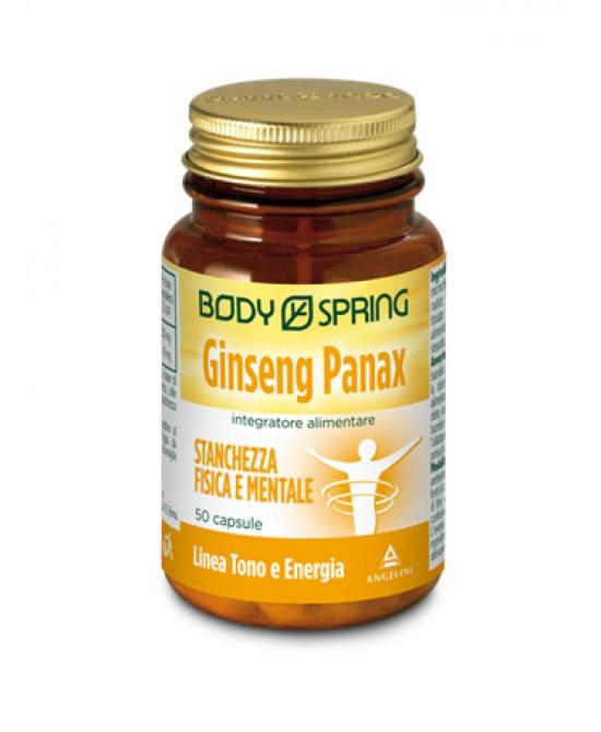 Body Spring Ginseng Panax Integratore per la Stanchezza 50 Capsule