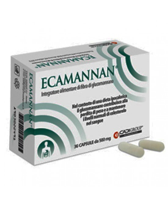 Ecamannan 36cps 500mg - Farmaciaempatica.it