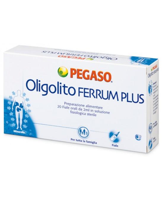 Oligolito Ferrum Plus 20f 2ml - Parafarmacia la Fattoria della Salute S.n.c. di Delfini Dott.ssa Giulia e Marra Dott.ssa Michela