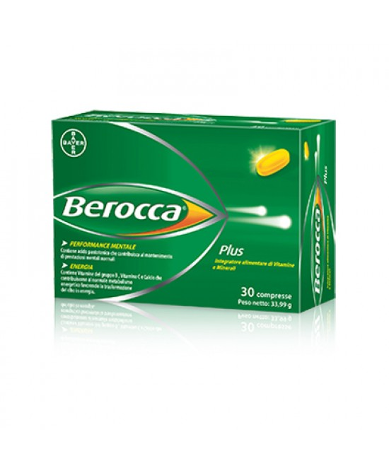 Bayer Berocca Plus Integratore multivitaminico Alimentare 30 compresse - Farmajoy