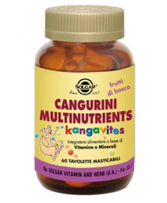 Solgar Cangurini Multinutriens Frutti Di Bosco 60 Tav.Masticabili - Antica Farmacia Del Lago