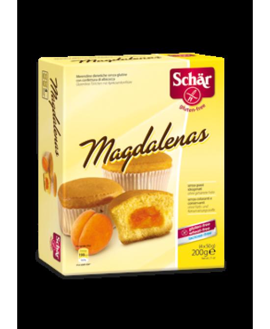Schar Magdalenas Merendine Con Confettura Di Albicocca Senza Glutine 200g (4x50g) - FARMAPRIME