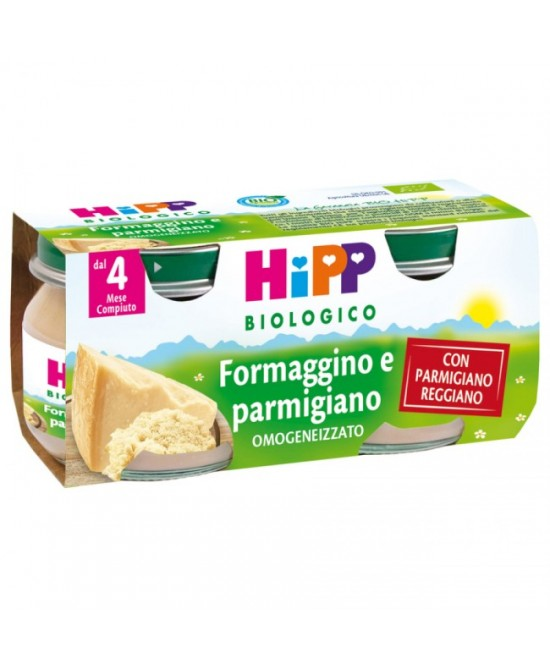 HiPP Biologico Omogeneizzato Formaggino E Parmigiano 2x80g - Farmalandia