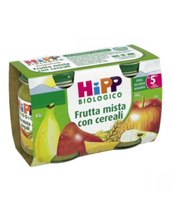 Hipp Biologico Omogeneizzato Di Frutta Mista Con Cereali 2x125g - Farmafamily.it