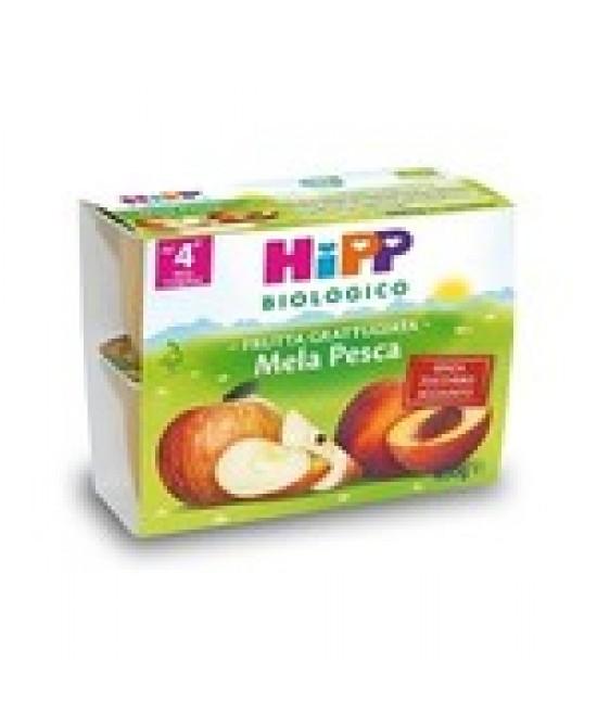 HiPP Biologico Merenda Di Frutta Mela Pesca 4x100g - Farmajoy