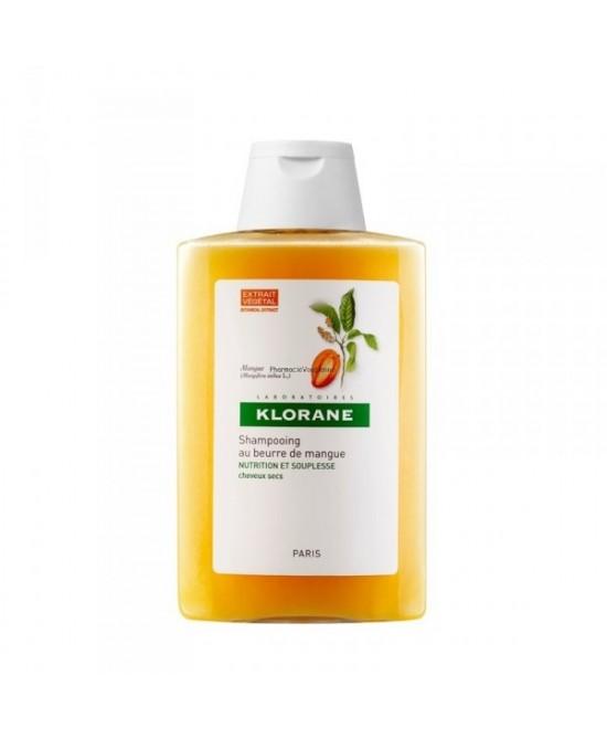 Klorane Shampoo Trattante Nutritivo E Riparatore Al Burro Di Mango - Capelli Secchi Danneggiati Che Si Spezzano 200ml - Zfarmacia