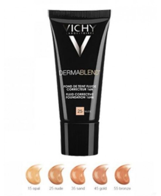 Vichy Dermablend Fondotinta Fluido Correttore Tonalità 25 Nude 30ml -
