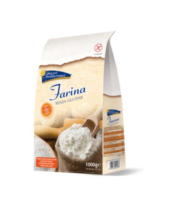 Piaceri Mediterranei Farina Senza Glutine 1000g - Farmajoy