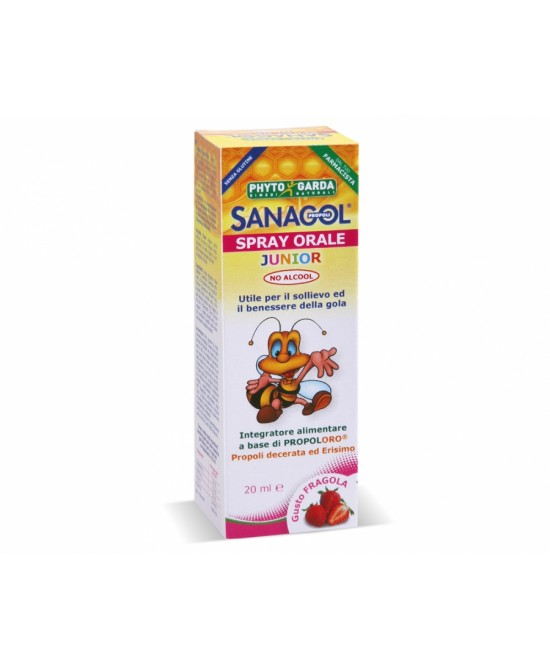 Phyto Garda Sanagol Spray Junior Propoli Gusto Fragola 20ml - farmaventura.it
