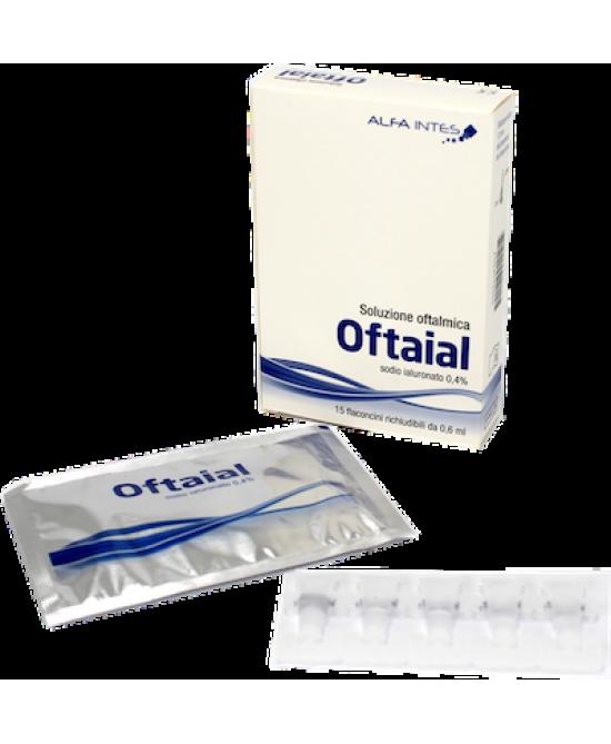 Oftaial Soluzione Oftalmica 15 Flaconi Da 0,6ml