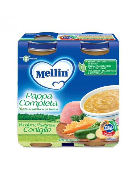Mellin Pappa Completa Verdure Pastina Coniglio 2x250g - Antica Farmacia Del Lago