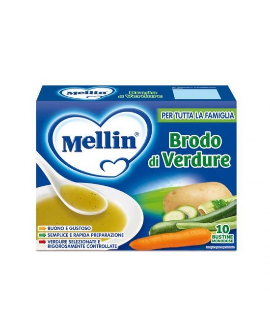 Mellin Brodi Brodo Di Verdure 10 Bustine Da 8g - Farmia.it