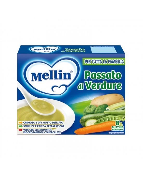 Mellin Brodi Passato Verdure 8 Bustine Da 13g - Farmajoy