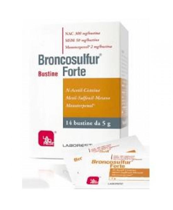 BRONCOSULFUR FORTE 14 BUSTINE - Farmaciacarpediem.it