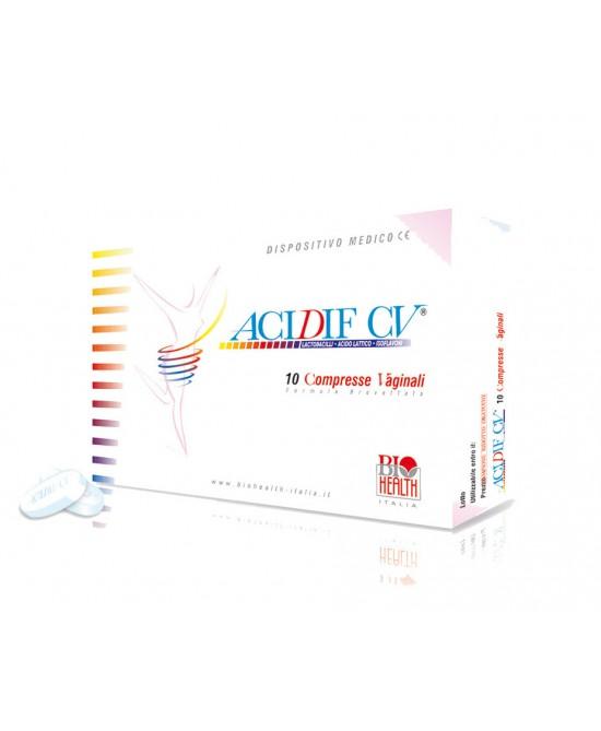 Acidif Cv Integratore Alimentare 10 Compresse Vaginali - Farmacia 33
