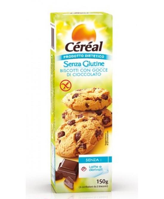 Céréal Biscotti Con Gocce Di Cioccolato Senza Glutine 150G - La tua farmacia online