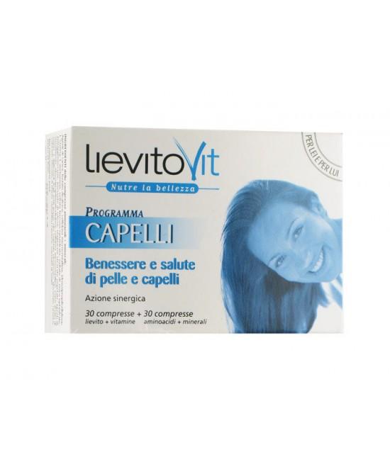 LievitoVit Programma Capelli Integratore Alimentare 60 Compresse - FARMAPRIME