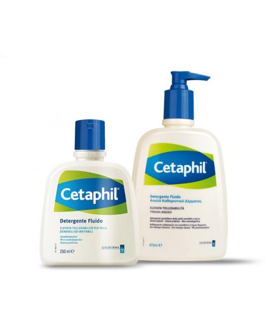 Cetaphil Detergente Fluido Flaconi Da 250ml E 470ml - Farmacia Giotti