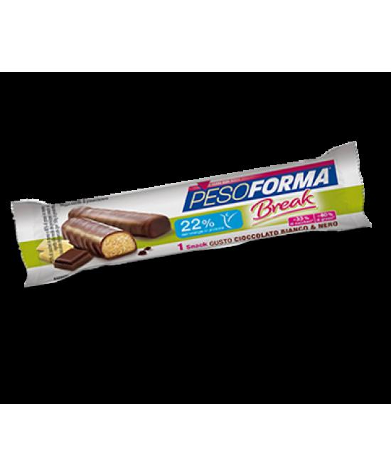 Pesoforma Snack Break Cioccolato Bianco E Nero 1 Pezzo - Farmajoy