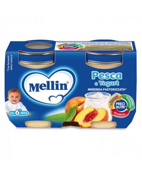 Mellin Merenda Pesca E Yogurt 2x120g - Farmabros.it