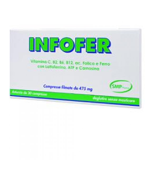 Infofer 30cpr - Parafarmacia la Fattoria della Salute S.n.c. di Delfini Dott.ssa Giulia e Marra Dott.ssa Michela