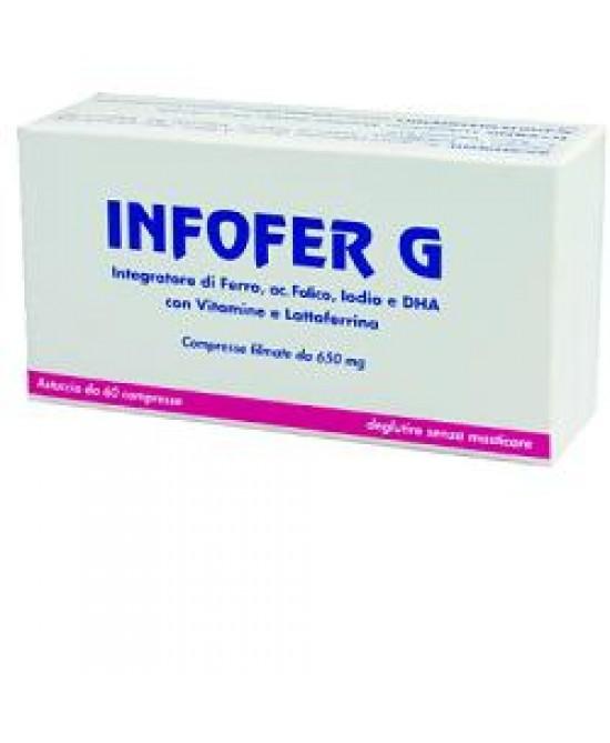 Infofer G 60cpr - Parafarmacia la Fattoria della Salute S.n.c. di Delfini Dott.ssa Giulia e Marra Dott.ssa Michela