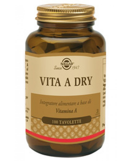 Vita A Dry 100 Tavolette - Sempredisponibile.it