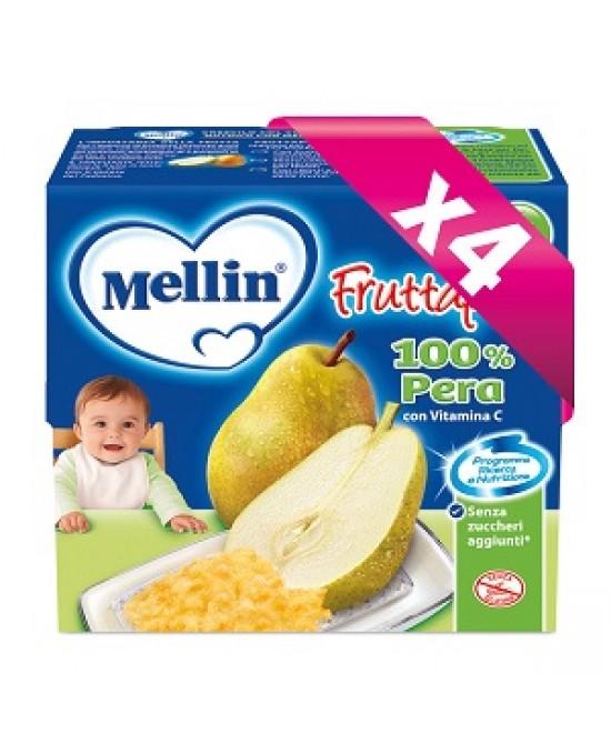 Mellin La Merenda Fruttapura Pera 4x100g - latuafarmaciaonline.it