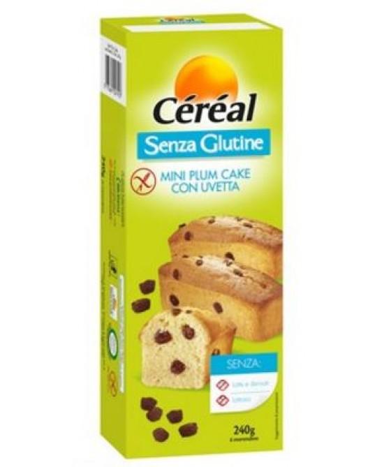 Céréal Mini Plum Cake Con Uvetta Senza Glutine 240g - Farmajoy