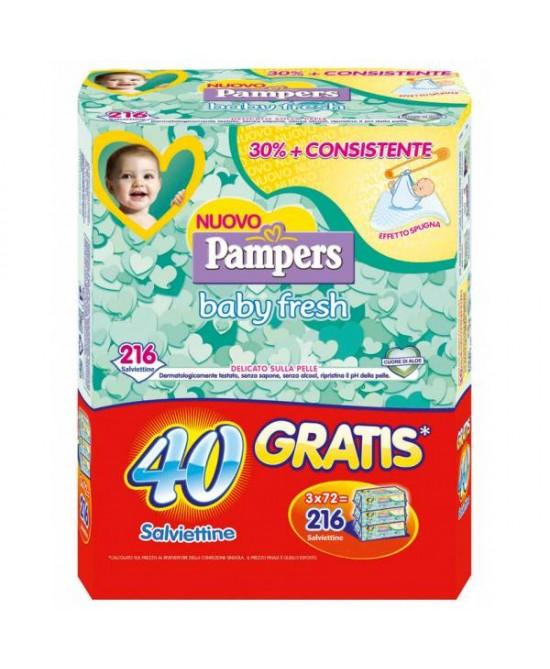 Pampers Baby Fresh Salviettine Umidificate 216 Pezzi - Farmaunclick.it