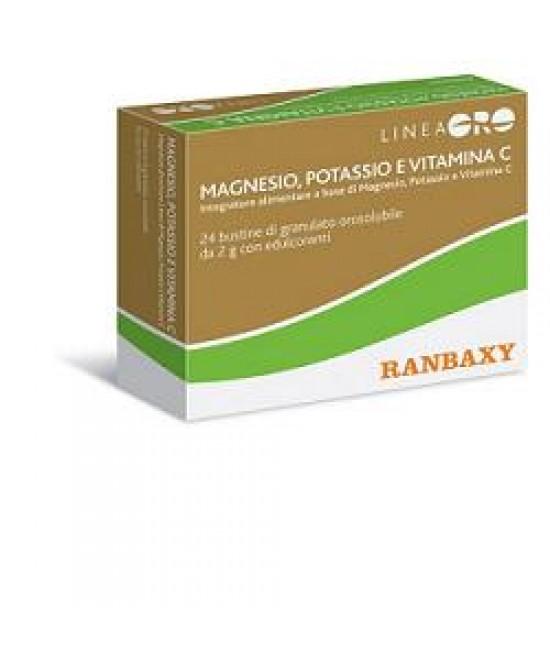 Ranbaxy Oro Magnesio Potassio e Vitamina C Integratore 20 Bustine