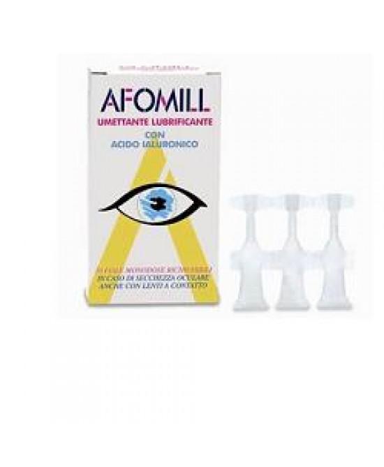 Afomill Umettante Lubrificante con Acido Ialuronico Gocce Oculari 10 Flaconcini da 5 ml